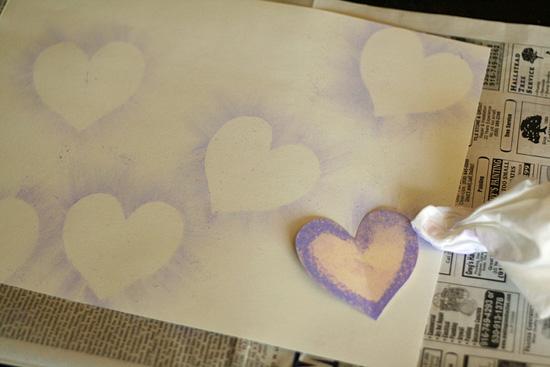 Chalk Pastel Hearts Background