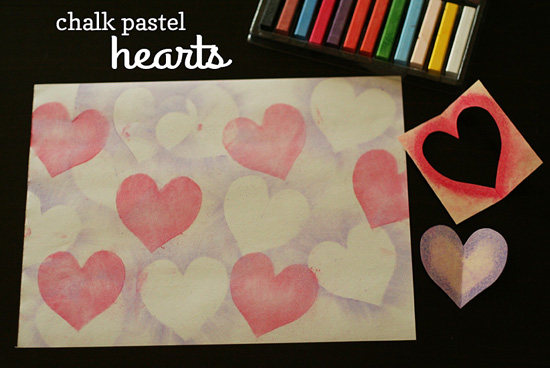 Chalk Pastel Hearts Make And Takes