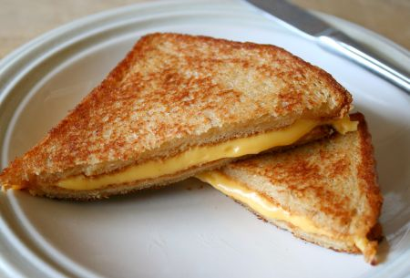 Inverted Bread Cheese Sandwich