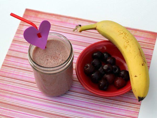 Naturally sweet cherry banana smoothie
