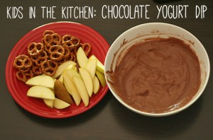 Chocolate yogurt dip recipe for kids