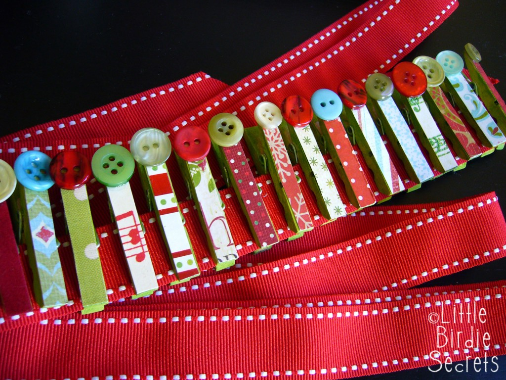 Supplies for Christmas Card Garland: