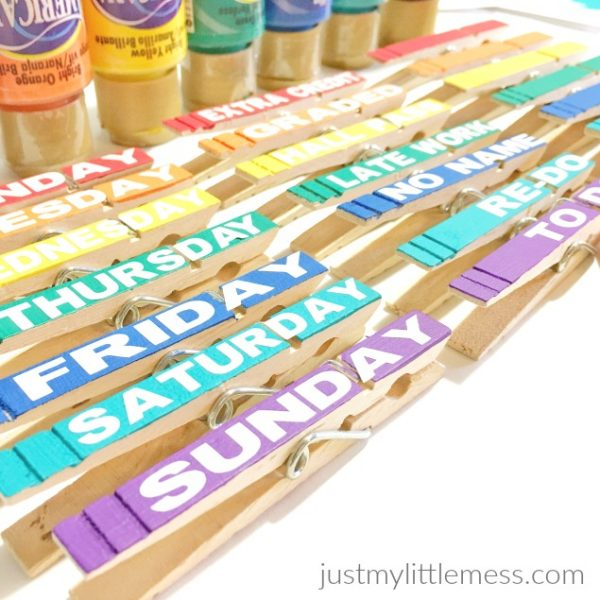 Back to School Classroom Clothespins