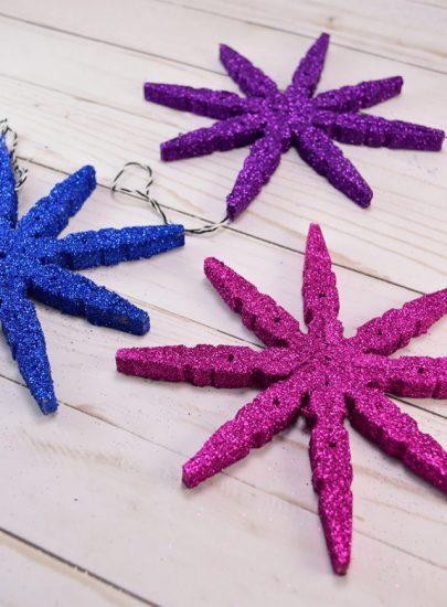 DIY Glitter Clothespin Ornament