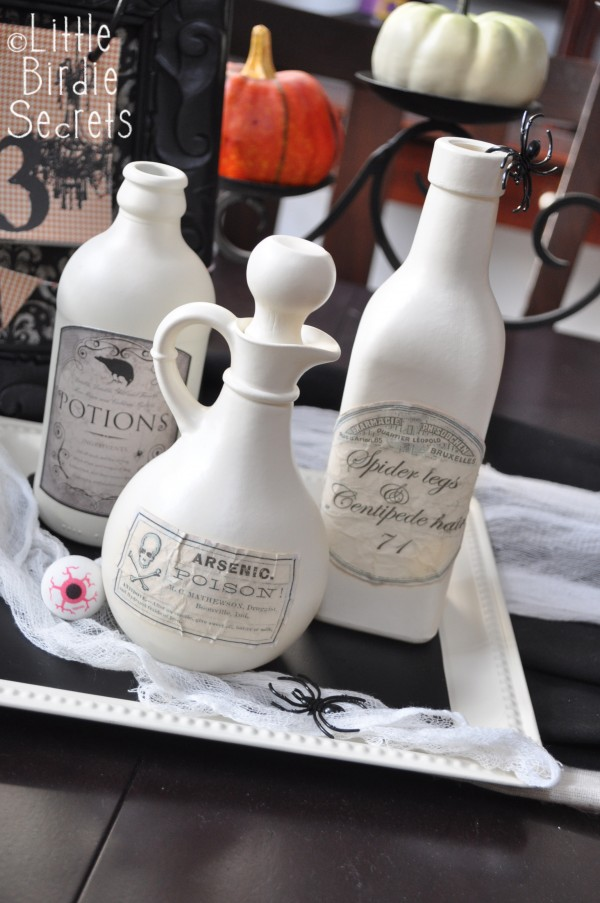 coffee dye halloween potion bottle label tutorial
