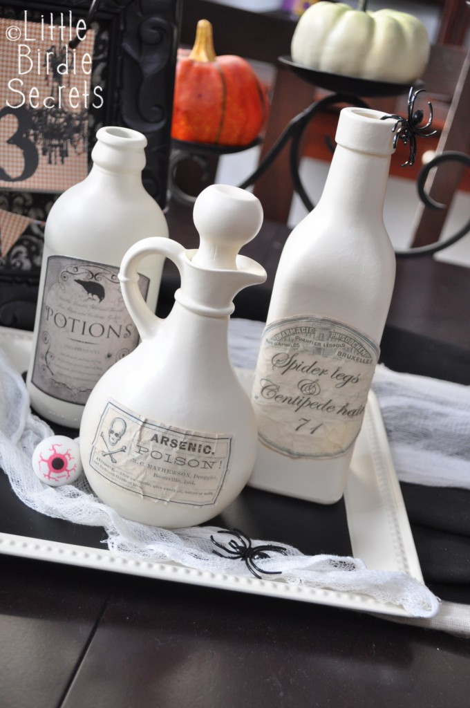 Aged Halloween Potion Bottle Labels