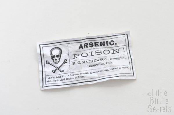 Cut our your vintage label image