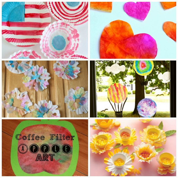 24 Coffee Filter Crafts to Make collage