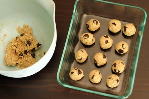 Chocolate chip cookie dough balls