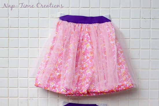 Cotton and Tulle Skirt