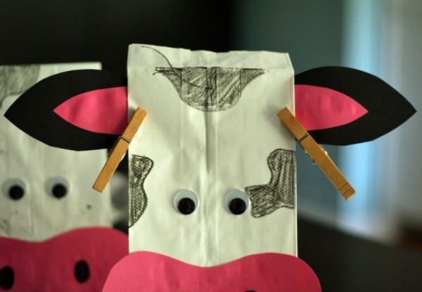 Cow party favor bag