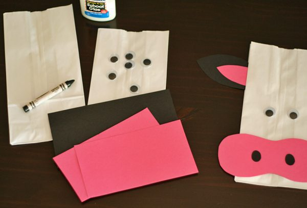 how to make a cow with paper