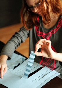Accordion folding paper