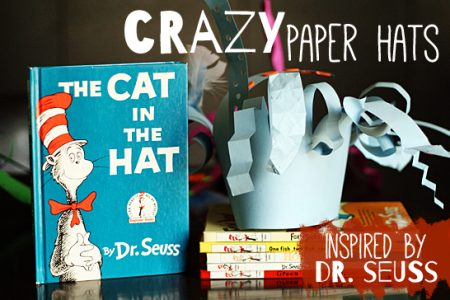 Crazy paper hats inspired by Dr. Seuss