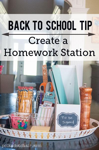 Create a Homework Station
