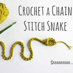 Crochet a Chain Stitch Snake