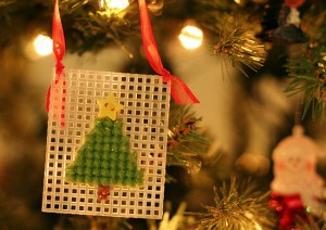 Cross Stitch Tree Ornament