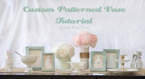 custom patterned vase wedding centerpiece idea tutorial
