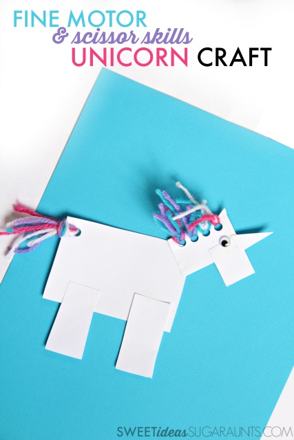 Unicorn Craft for Fine Motor Scissor Skills