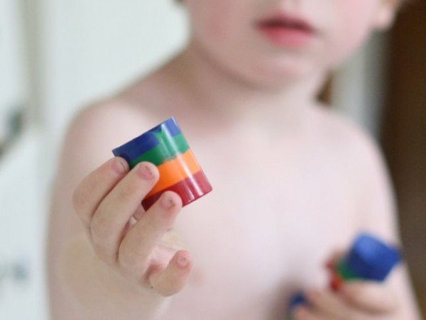 DIY Rainbow Crayons
