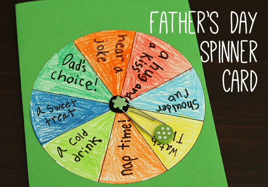 Father's Day Spinner Card