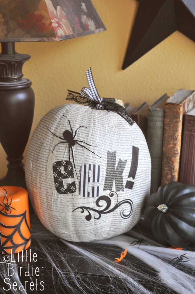 DIY Decoupage Halloween Pumpkins