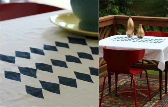 diamond pattern tablecloth