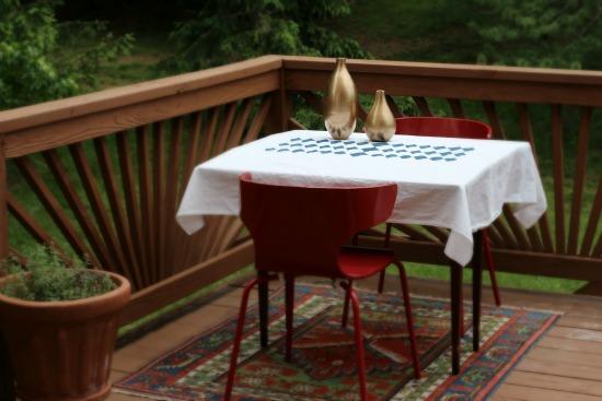 DIY Diamond Patterned Tablecloth