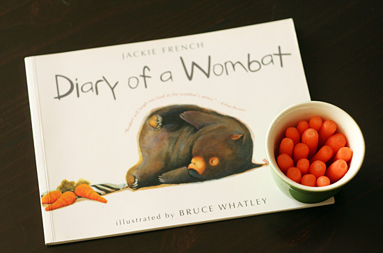 Diary of a Wombat and carrot snack