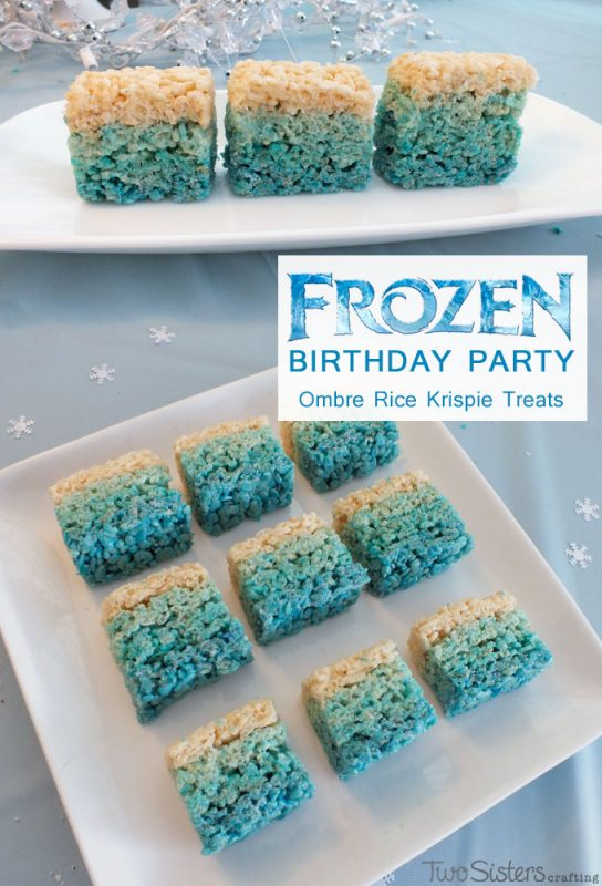 Disney Frozen Ombre Rice Krispie Treats