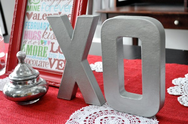 diy faux brushed nickel letters tutorial