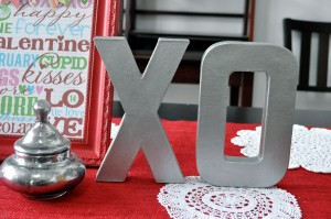 diy faux metal letters valentine tutorial