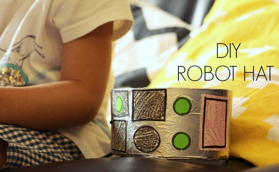 diy for kids  robot hat