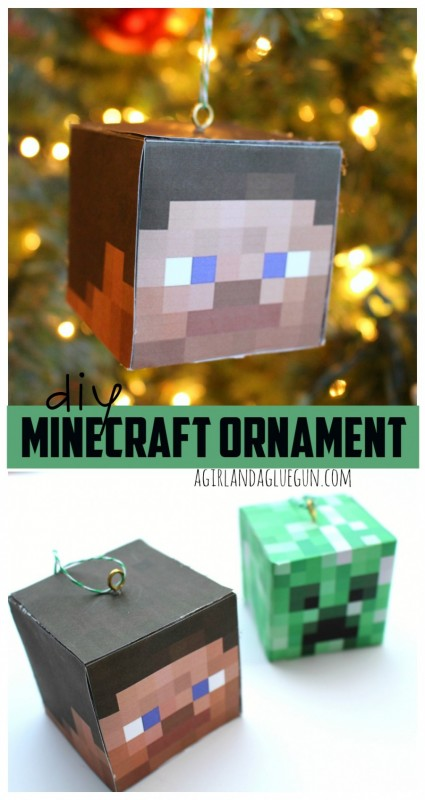 25 minecraft projects kids will love make and takes diy minecraft ornament solutioingenieria Images