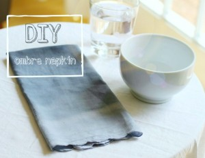 diy ombre napkin project