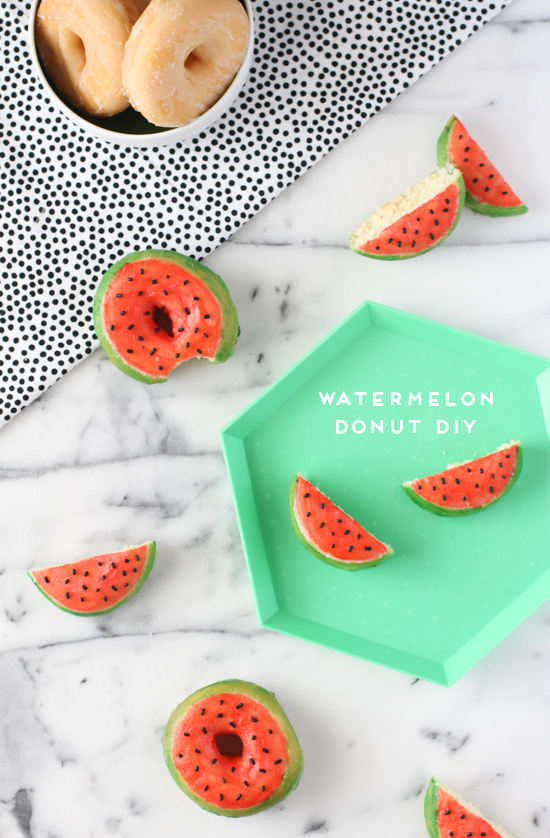 15 DIYs to Make for National Watermelon Day Donuts
