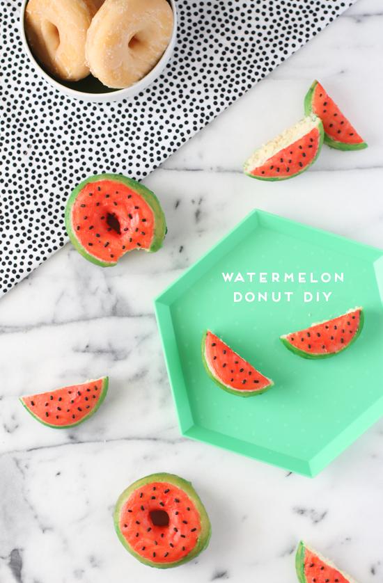 DIY Watermelon Donuts