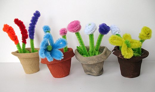 Make paper flower pots yelomdiffusion make paper flower pots pipecleaner flower pots munchkins and mayhem mightylinksfo