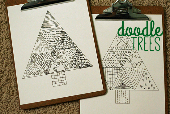 Download this Doodle Tree Printable for kids to color @makeandtakes.com