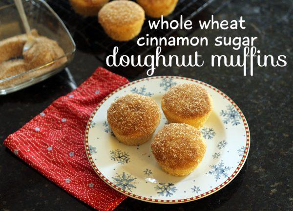 Whole-wheat cinnamon sugar doughnut muffins