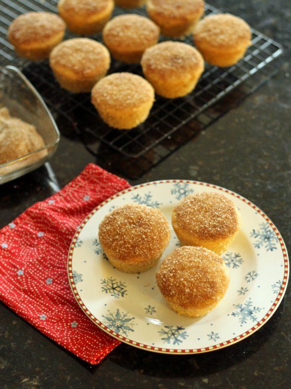Whole Wheat Cinnamon Sugar Doughnut Muffins