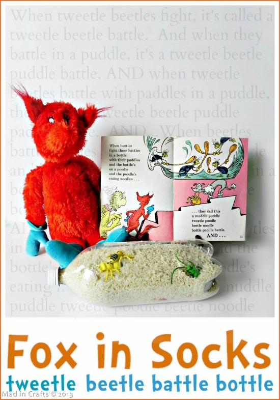 Dr. Seuss Crafts to Celebrate fox in socks