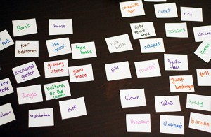 Cards for drawing game