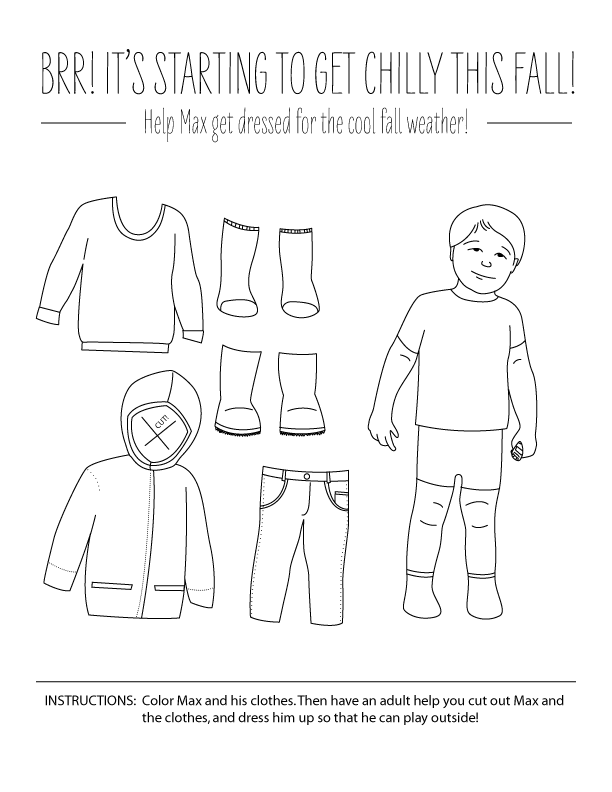 Dress Max Coloring Page