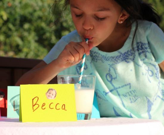 drinking milk after school snack