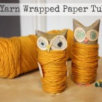 Yarn Wrapped Paper Tube Owl