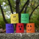 Cardboard Ghouls for Halloween