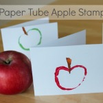 Paper Tube Apple Stamps