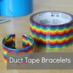 Duct Tape Cardboard Bracelets