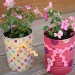 Aluminum Can Flower Pots